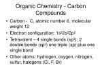 organic chemistry carbon compounds