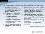 a framework for effective self monitoring