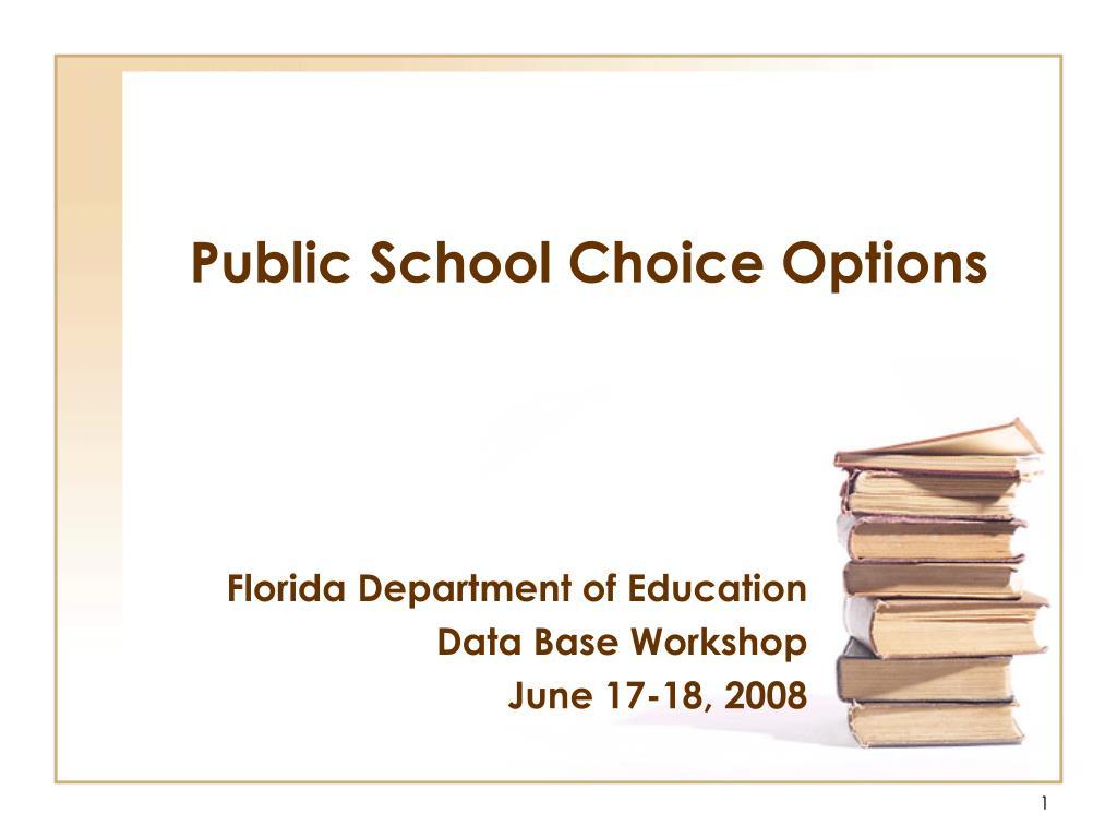 public school choice options l.