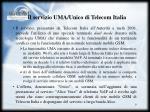 il servizio uma unico di telecom italia