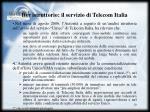 iter istruttorio il servizio di telecom italia