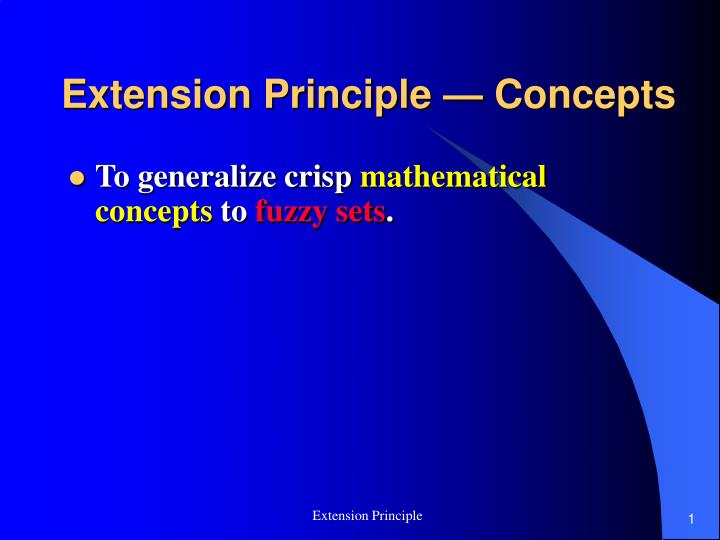 extension principle concepts n.