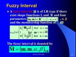 fuzzy interval