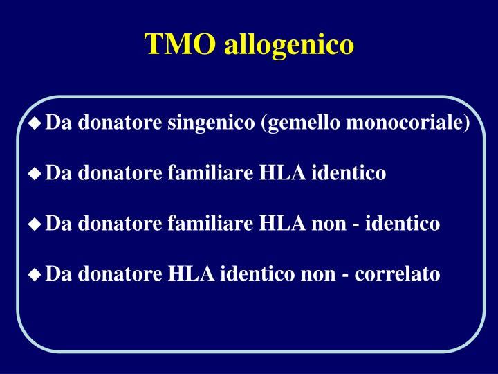TMO allogenico