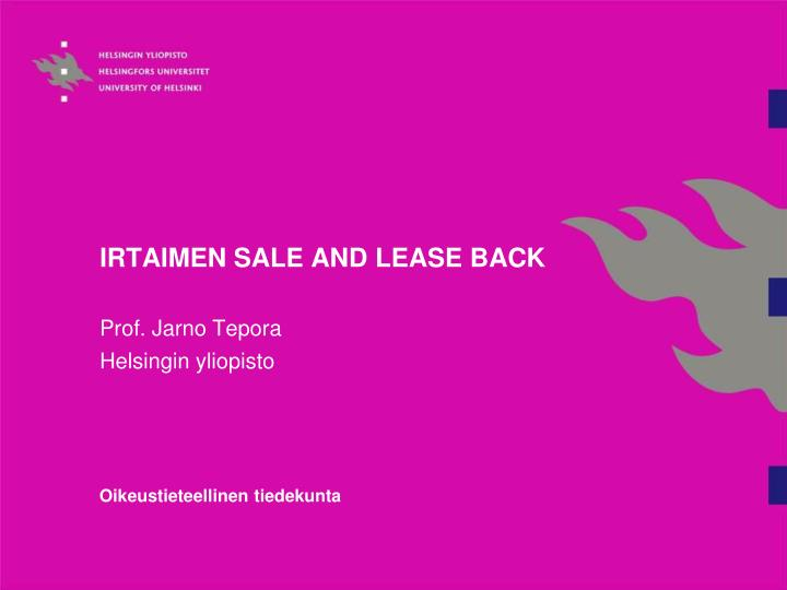 irtaimen sale and lease back n.