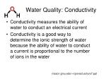 water quality conductivity