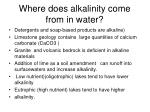 where does alkalinity come from in water