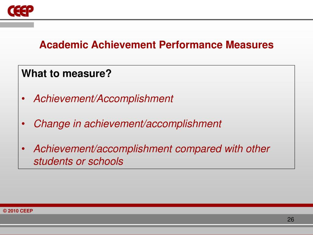 Academic Achievement Performance Measures
