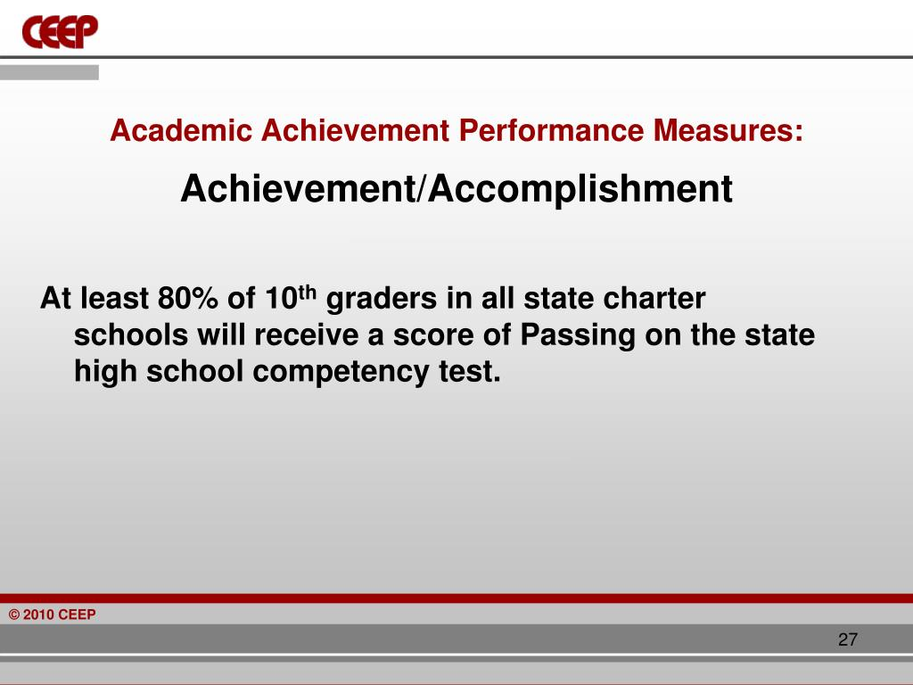 Academic Achievement Performance Measures: