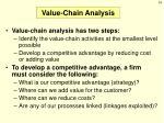 value chain analysis1