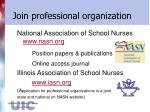 join professional organization