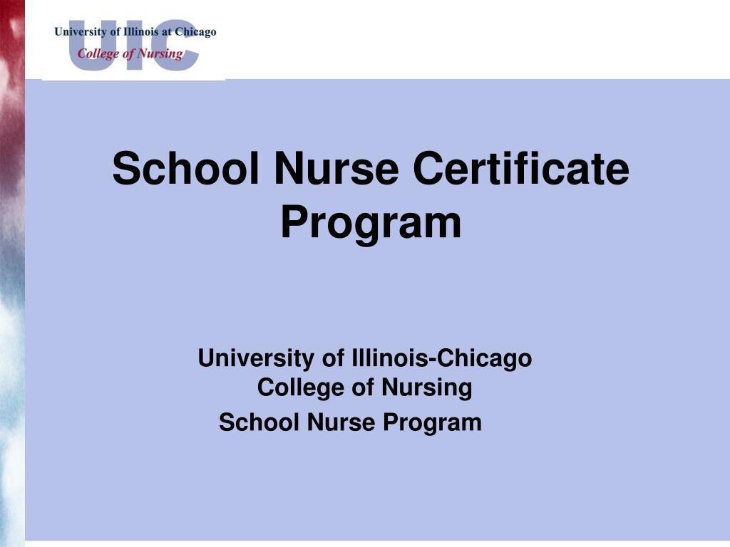 school nurse certificate program l.