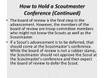 how to hold a scoutmaster conference continued2