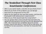 the tenderfoot through first class scoutmaster conferences1