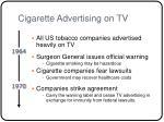 cigarette advertising on tv