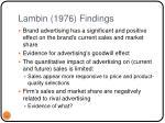 lambin 1976 findings