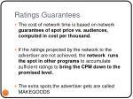 ratings guarantees