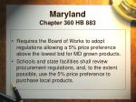 maryland chapter 360 hb 883