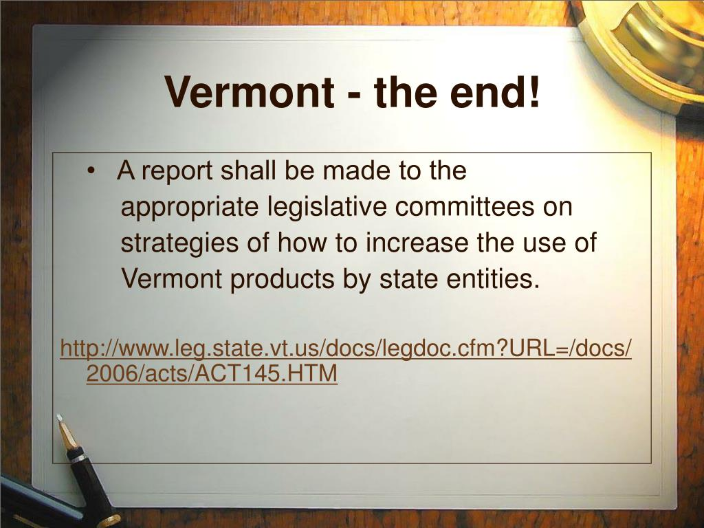 Vermont - the end!