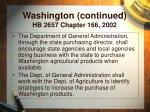 washington continued hb 2657 chapter 166 2002