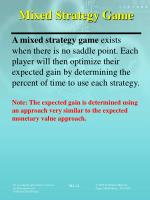 mixed strategy game