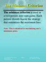 the minimax criterion