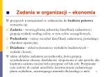 zadania w organizacji ekonomia6