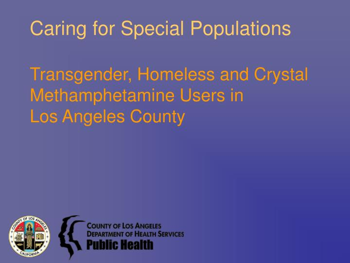caring for special populations n.