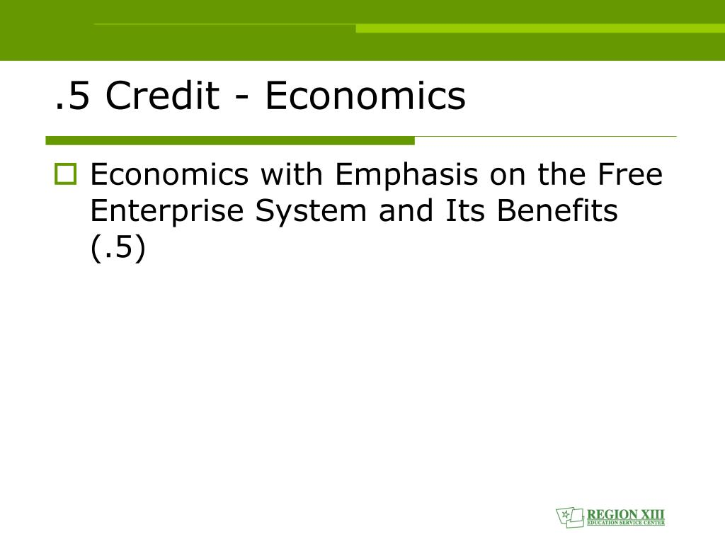 .5 Credit - Economics