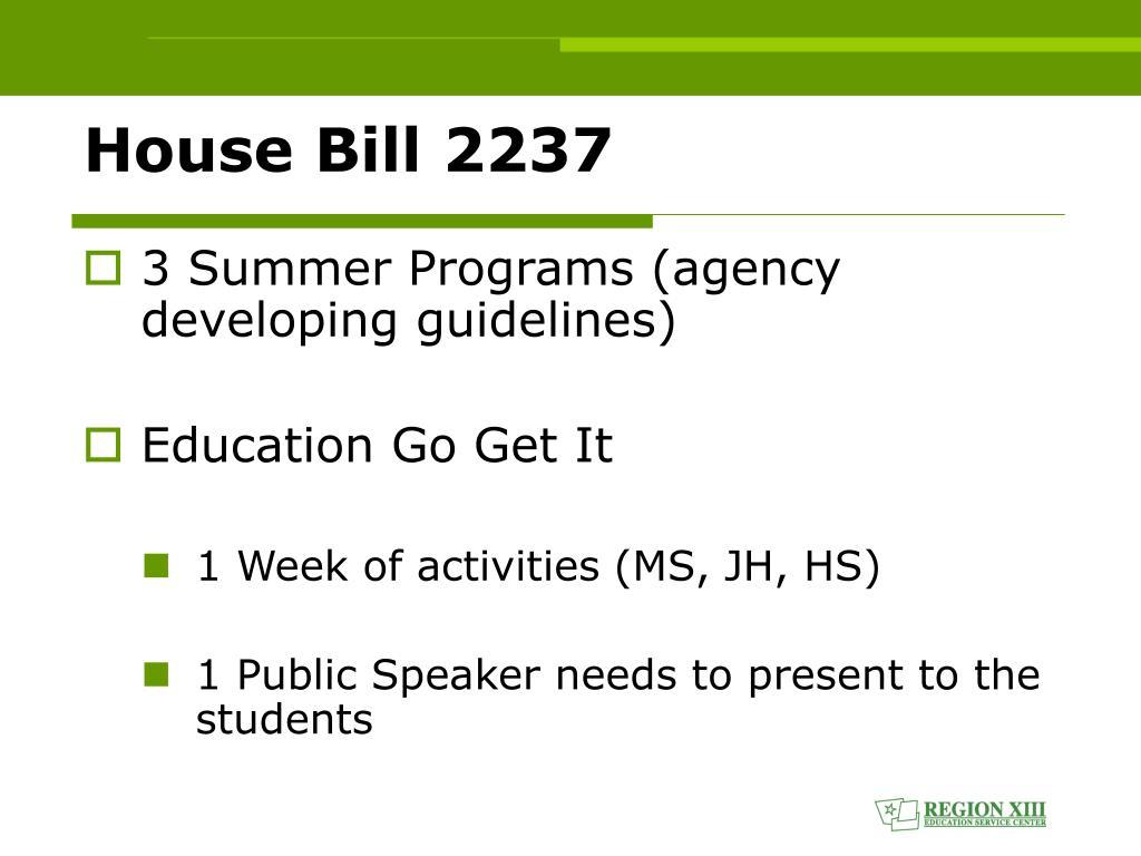 House Bill 2237
