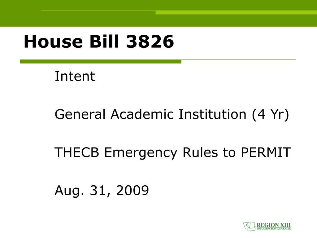 House Bill 3826