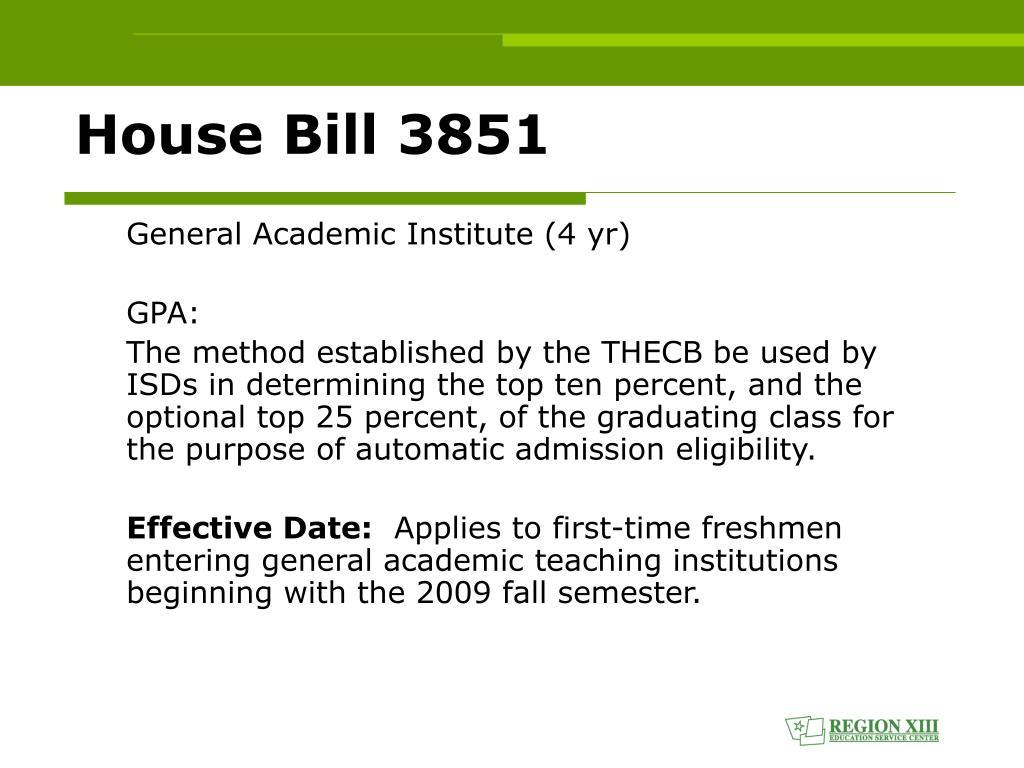 House Bill 3851
