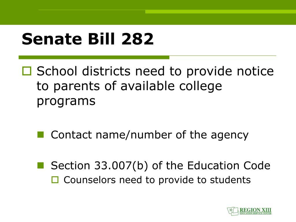 Senate Bill 282