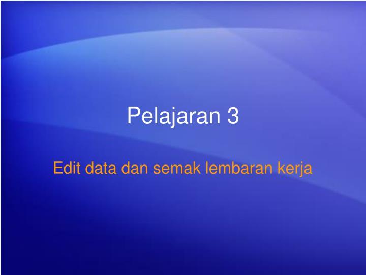 Pelajaran 3