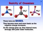 basicity of oxoanions