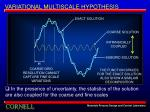 variational multiscale hypothesis