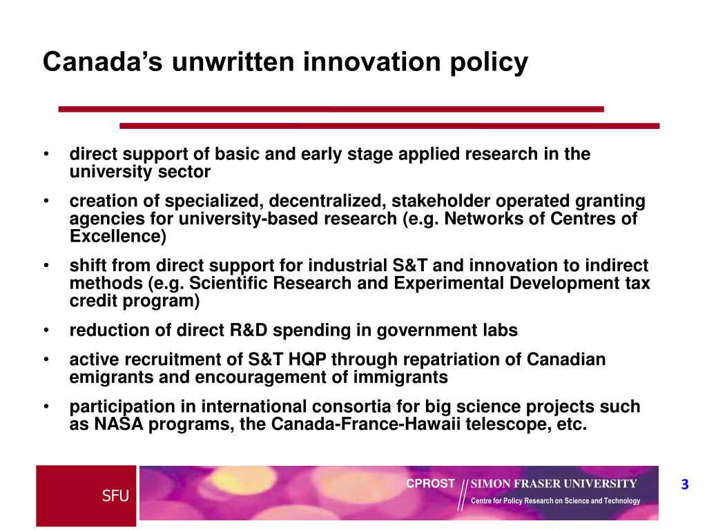 Canada's unwritten innovation policy
