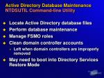 active directory database maintenance ntdsutil command line utility