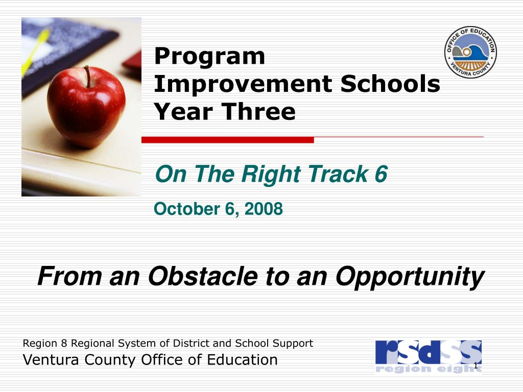 program improvement schools year three l.