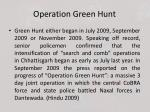 operation green hunt