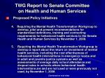 twg report to senate committee on health and human services1