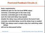 front end feedback circuits i