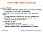 front end feedback circuits iv