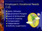 employee s vocational needs 1 2