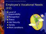 employee s vocational needs 2 2