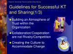 guidelines for successful kt and sharing 1 3