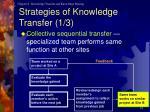 strategies of knowledge transfer 1 3