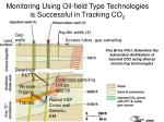 monitoring using oil field type technologies is successful in tracking co 2