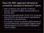 does the abc approach demand an unrealistic standard of behavior cont2