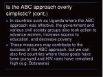 is the abc approach overly simplistic cont